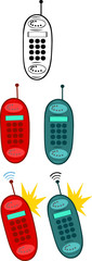 Retro Telephone.Collection Set