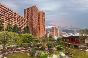 View of Monaco garden, Cote d'Azur