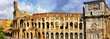 great Rome, panoramic view with Colosseo