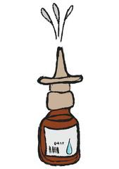 cartoon nasal spray bottle