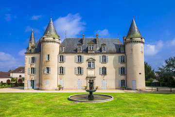 beautiful castles of France Dordogne region