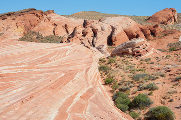 Scenic view of the Valley of Fire