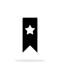 Bbookmark with star simple icon on white background.