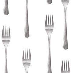 seamless silverware pattern