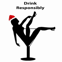 Concept of Responsible Drinking During the Holiday Season