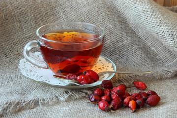 Tea with dogrose.