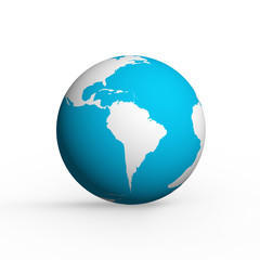 Hand and earth globe icon