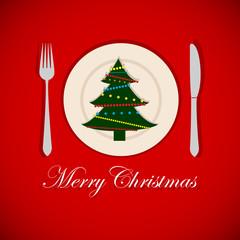 Christmas tree on a platter