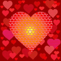 valentin card. heart. vector