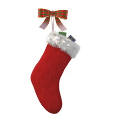 Christmas sock isolated