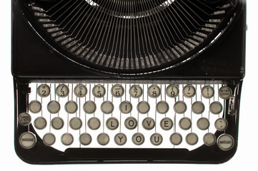 "Old typewriter ""I love you"""