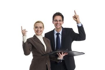 Mann und Frau als Team erfolgreich