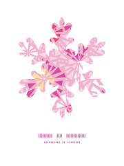 Vector pink abstract triangles Christmas snowflake silhouette