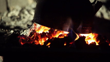kettle boiling on the fire
