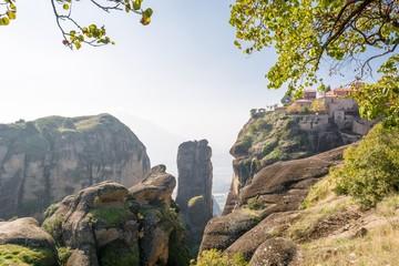 Rock pillar near monastery