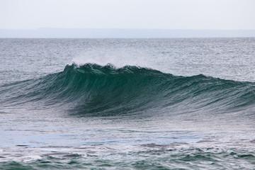 Falling ocean wave