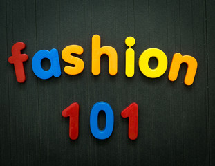 Fashion education concept