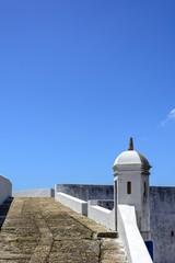 Detalhe de uma guarita na Fortaleza de Santa Cruz em Niterói
