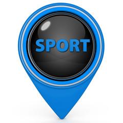 Sport pointer icon on white background