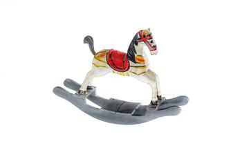 little wooden horse  on white background