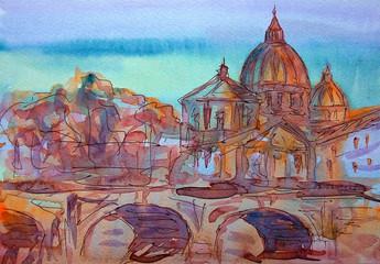 Basilica Sant Pietro,  Rome, Italy.