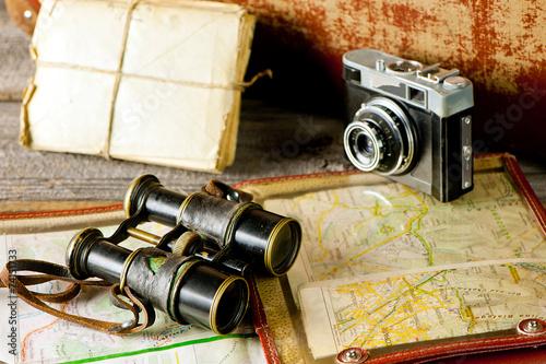Foto op Plexiglas Retro vintage travel memories
