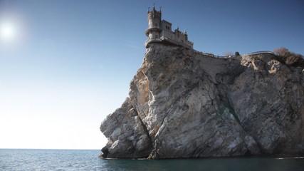 Swallow's Nest castle on the rock over the sea, Crimea, Ukraine