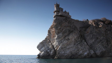 Swallow's Nest castle on the rock over the sea, Crimea, Ukraine