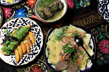 Uzbek national dishes