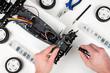 Leinwanddruck Bild - rc car assembling