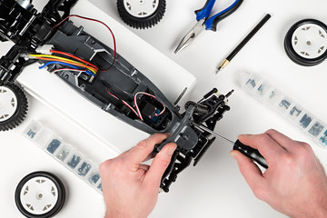 rc car assembling