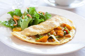 Omelette with Squash & Peppers