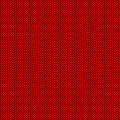 Seamless red knitted flat vector background.