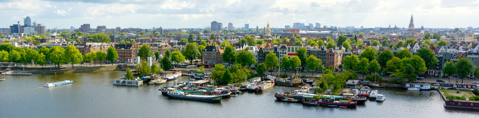 Old Amsterdam city