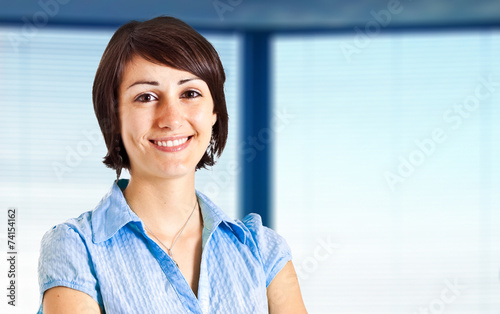 canvas print picture Smiling businesswoman