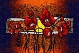 Fototapeta Abstract flower oil painting