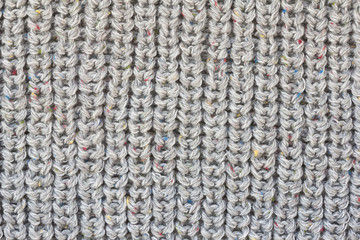 Gray knitted fabric texture