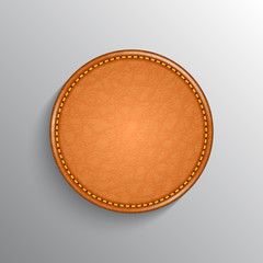 Leather label background