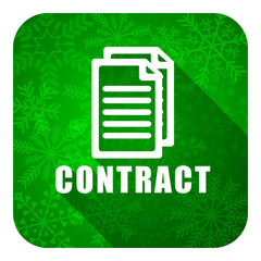 contract flat icon, christmas button