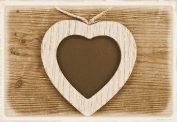 Lebenslang Liebe - Herz auf Holz