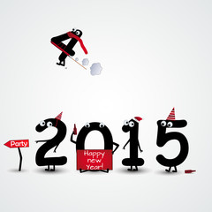 2015 happy new year background numbers