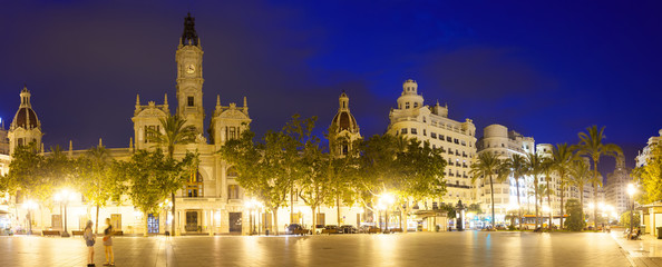 Placa del Ajuntament with City Hall. Valencia