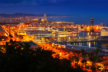 Barcelona in evening