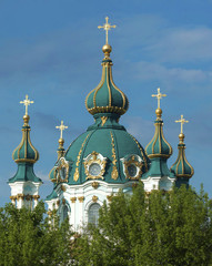 dome of St. Andrew's Church in Kiev