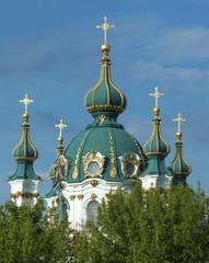 dome of St. Andrew's Church in Kiev