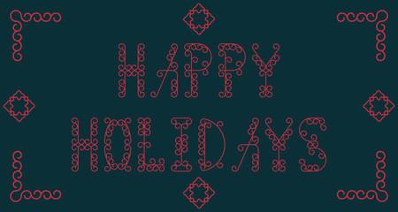 Happy Holidays. Vector illustration