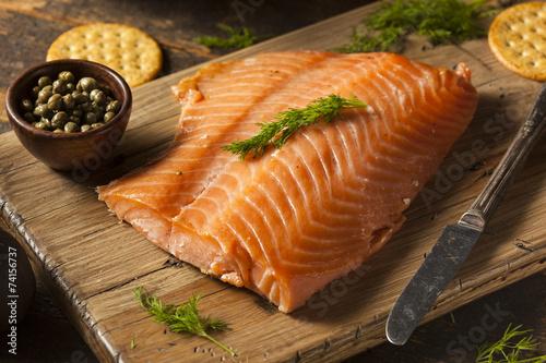 Homemade Smoked Salmon Appetizer - 74156737
