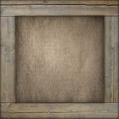 Wooden frame with old canvas inside