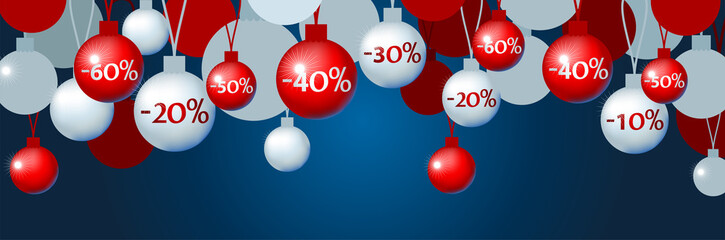 Illustration of christmas tree toys with discount
