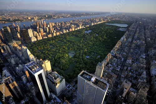 Aluminium New York New York Manhattan at Sunrise - Central Park View